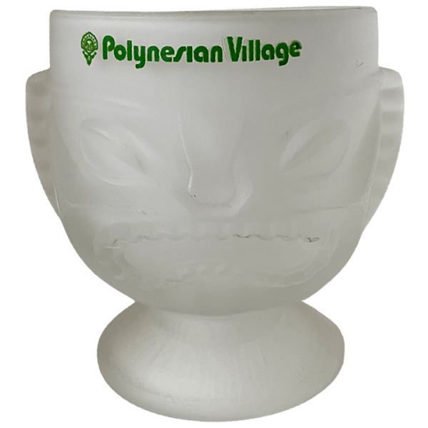Front of Short Two-Faced Glass Tiki - Disney's Polynesian Village Resort - Open Edition