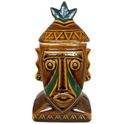 Front of Tribal Face Mug With Lid - Disney's Polynesian Resort - 1st Edition
