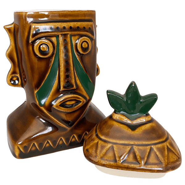 Top Removed - Tribal Face Mug With Lid - Disney's Polynesian Resort - 1st Edition