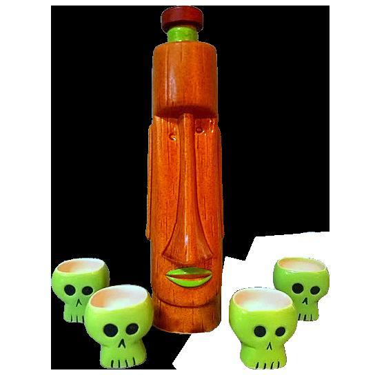 Moatu Decanter Set (Skull) - Tiki Farm - Limited Edition