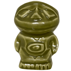 Front of Teeny Tiki Mug - Disneyland - Green Edition