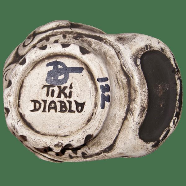 Bottom of Dio de la Marqueses - Tiki Diablo - Matte White Edition