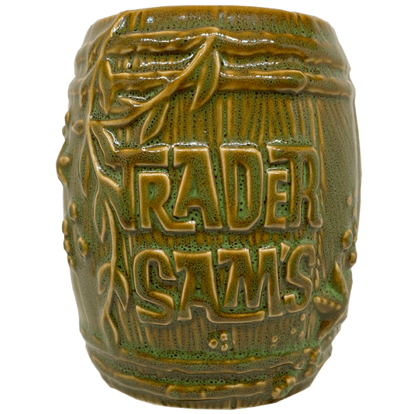Front of Rum Barrel - Trader Sam's Enchanted Tiki Bar - 1st Edition Version 2