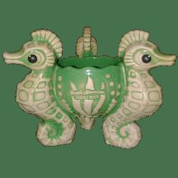 Front of Seahorse Bowl - Royal Hawaiian - Green Edition