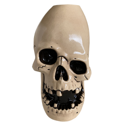 Front - Never Say Die Mutant Skull - Munktiki - White Edition