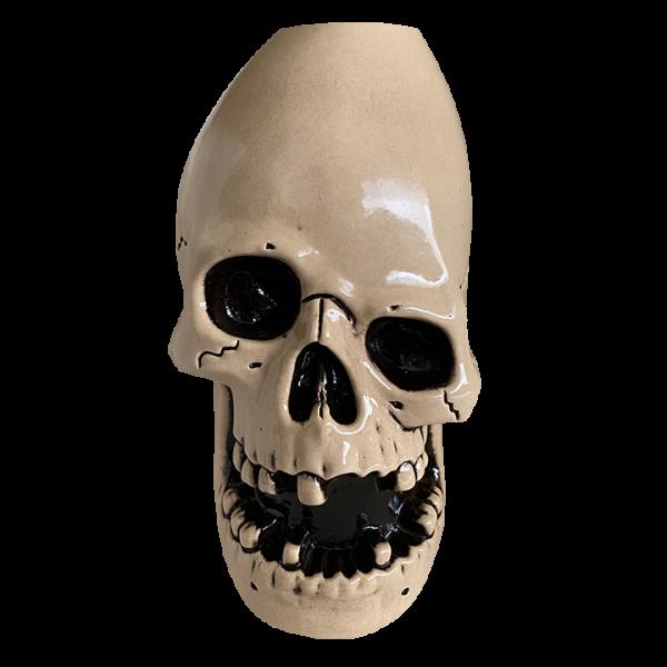 Front - Never Say Die Mutant Skull - Munktiki - White Edition