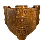 This bowl depicts tiki drums and tiki drummers inspired by the Enchanted Tiki Room at Disneyland.