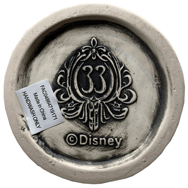 Bottom of Female Haunted Mansion Bust - Club 33 - 1st Edition