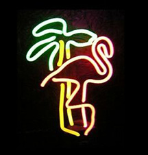 tiki-bar-lights-neon-palm-tree-and-flamingo-in-dark
