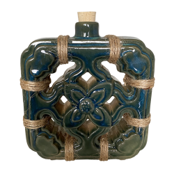 Front - Chinese Jade Tile Flask - Tonga Hut - 1st Edition