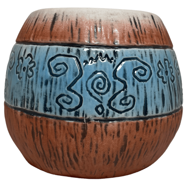 Back - Mad Tiki Cup - Lost Temple Traders - Brown and Blue Edition