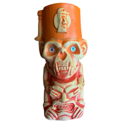 Front - 3rd Anniversary Mug (Monkey) - Tiki Underground - First Run Orange Glaze