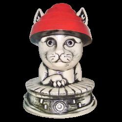 Front - Devo Cat Mug - TikiCat - 1st Edition