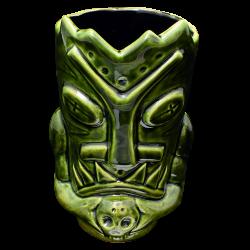 Front - Terrible Tiki Mug - Terrible Tiki - Green with Black Edition
