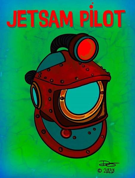 Jetsam Pilot Tiki Mug Concept Art by Tiki Diablo