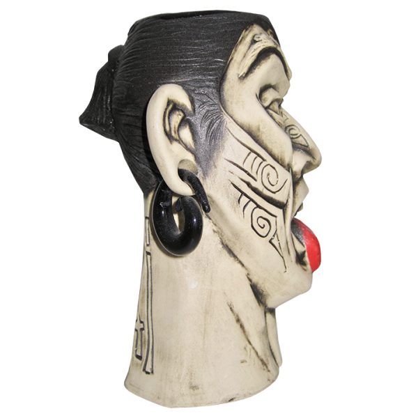 Side - Hiakai Maori Warrior - Eekum Bookum - Black & White Edition