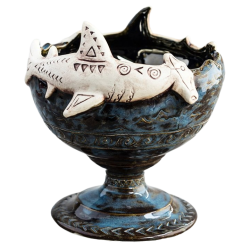 Front - Hammerhead Shark Tiki Bowl - Shima Ceramics - Limited Edition