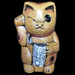 Front - Kawaii Neko - Ceramics by Carol - Orange Edition