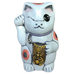 Front - Kawaii Neko - Ceramics by Carol - White Edition