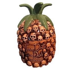 Front - Skull Pineapple - Three Dots and a Dash - Brown Edition