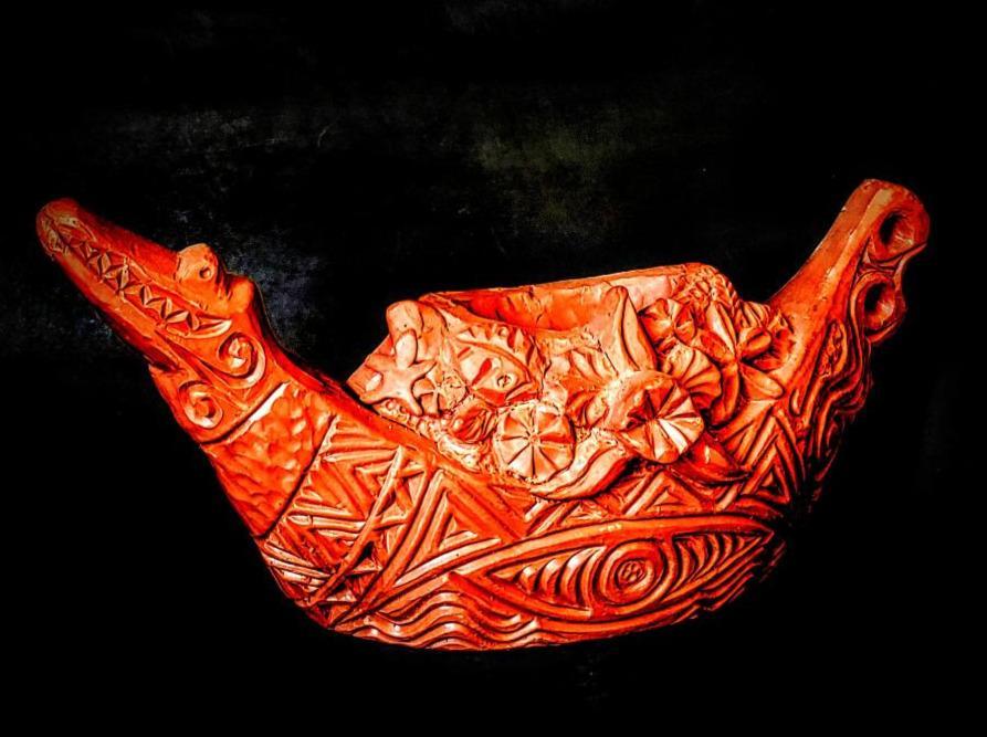Plumeria Punch Bowl Tiki Mug Sculpt