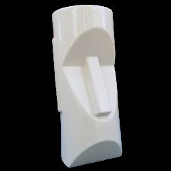 Side - Mid Mod Moai (Easter Island Head) - Odd Rodney - White Edition