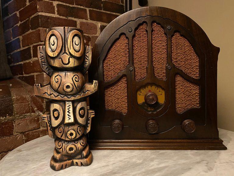 Tangaroa Tiki Babies Mug in Brown by Tiki tOny