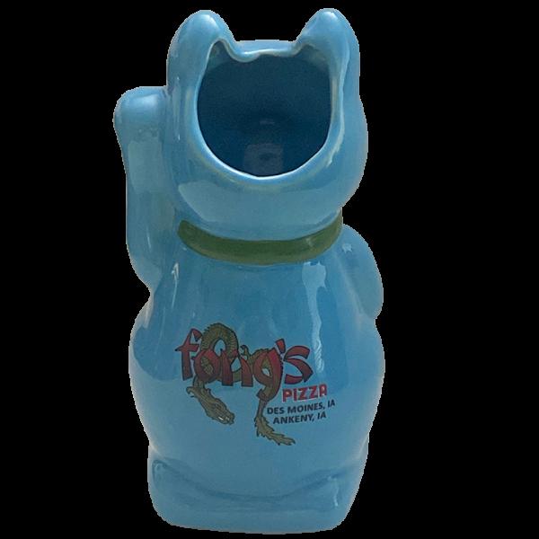 Back - Kitty Mug - Fong's Pizza - Blue Edition