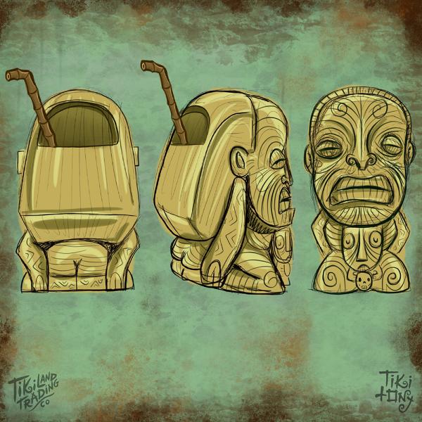 Cannibal of Doom Tiki Mug Design