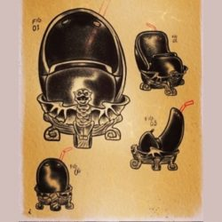 Doom Muggy Tiki Mug Concept Art