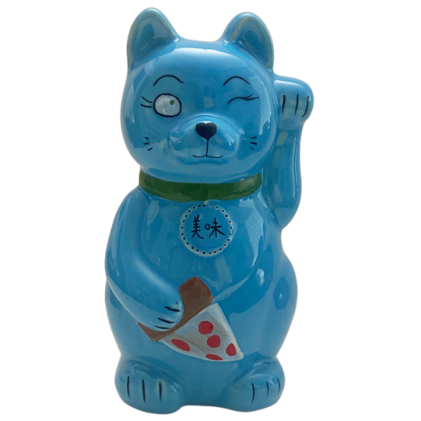 Front - Kitty Mug - Fong's Pizza - Blue Edition