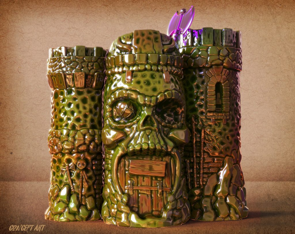 Hale Pukaua MOTU Tiki Mug Concept Art