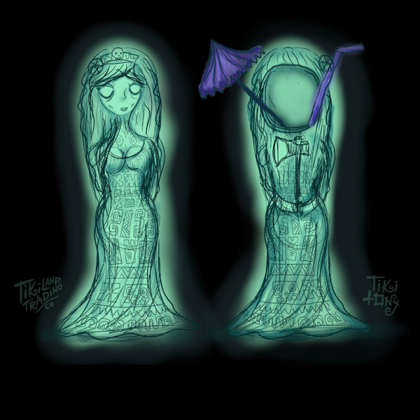 Hurry Back Tiki Mug Design