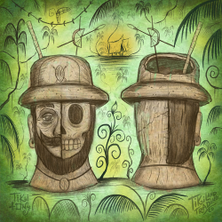 Lost Adventurer Tiki Mug Design Artwork