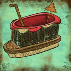 Skipper Bote Tiki Mug Design