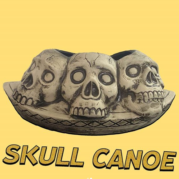 Skull Canoe Tiki Mug