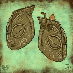 The Beachcomber Bombardier Tiki Mug Design