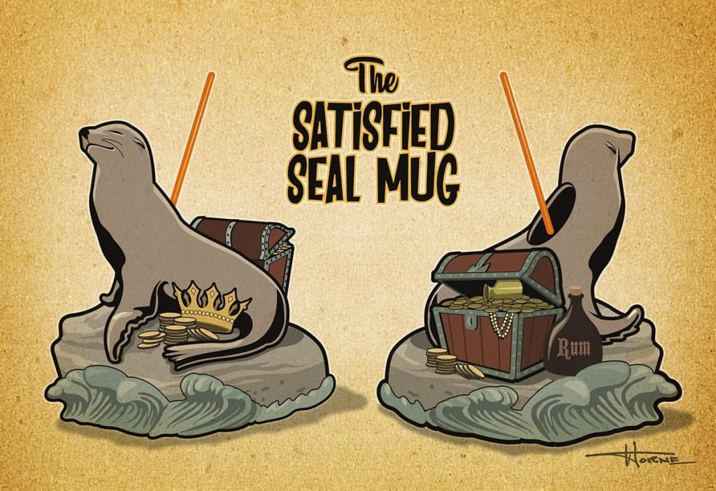 The Satisfied Seal Tiki Mug