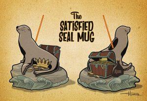 The Satisfied Seal Tiki Mug