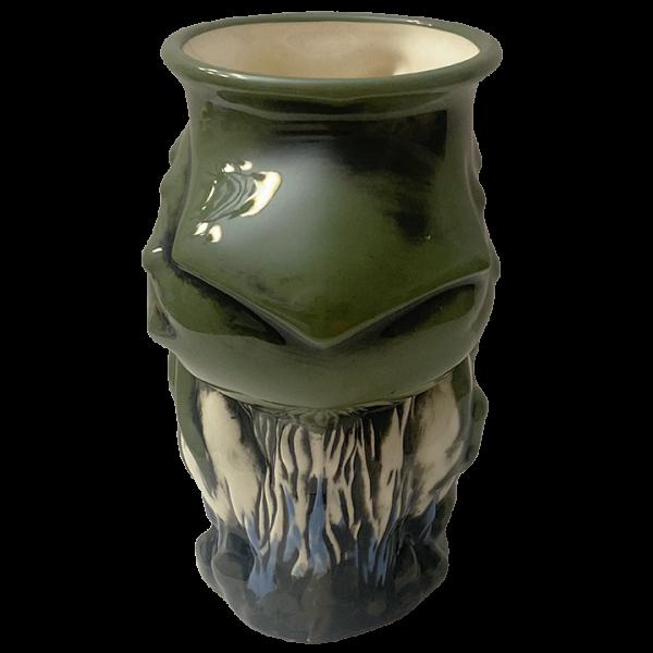 Back - Cthulhu Octopus Skull Mug - Kachaktano - Green Edition