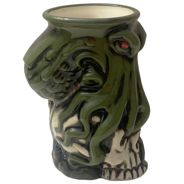 Side - Cthulhu Octopus Skull Mug - Kachaktano - Green Edition