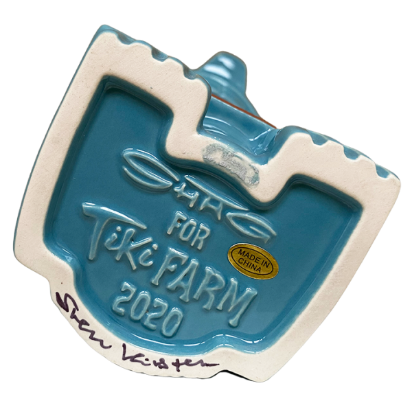 Bottom - Mr. Cannibal (Book of Tiki 20 Year Commemorative Tiki Mug) - Original Tiki Marketplace - Blue Edition
