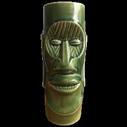 Front - Moai Mug – Mt. Fuji Inn – Green Woodgrain Eyes Edition