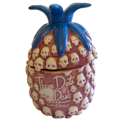 Front - Skull Pineapple - Three Dots and a Dash - Pink Edition