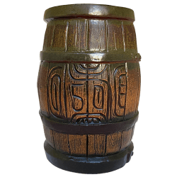 Front - Tikibyte's Birthday Rum Barrel - Tiki Diablo - Brown Edition