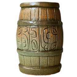 Front - Tikibyte's Birthday Rum Barrel - Tiki Diablo - Green Edition