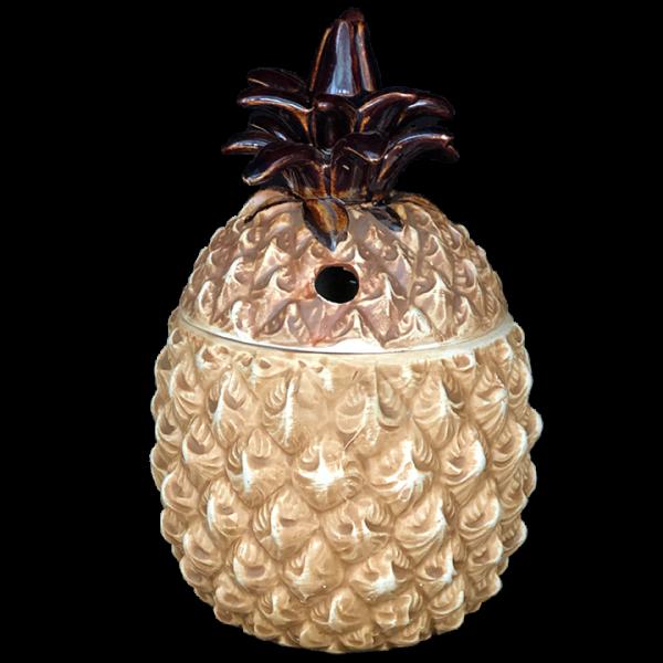 Front - Waimea Wipeout (Pineapple) Mug - Mark Thomas Outrigger - Brown Edition
