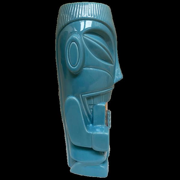 Side - Mr. Cannibal (Book of Tiki 20 Year Commemorative Tiki Mug) - Original Tiki Marketplace - Blue Edition