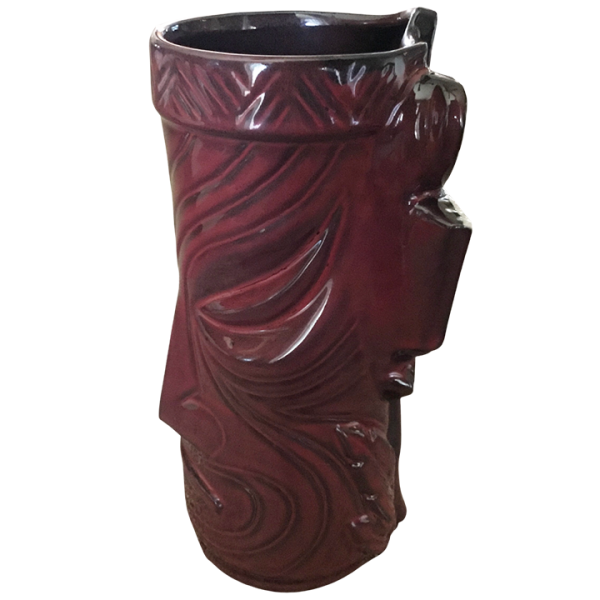 Side - Temple Mug - Tiki Farm - Dark Red Edition