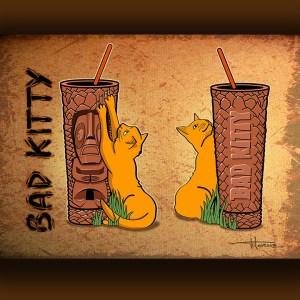 Bad Kitty Tiki Mug